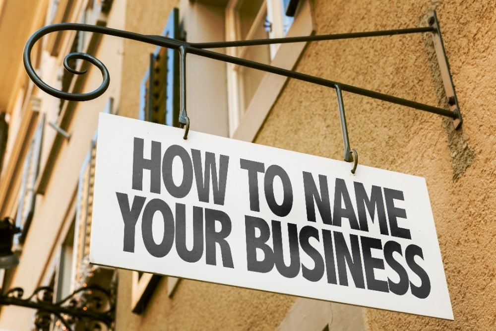 naming your business is the first step to being successful